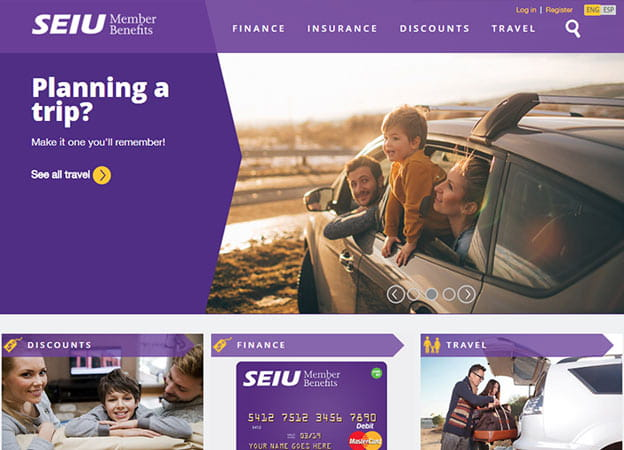 SEIU Member Benefits screenshot